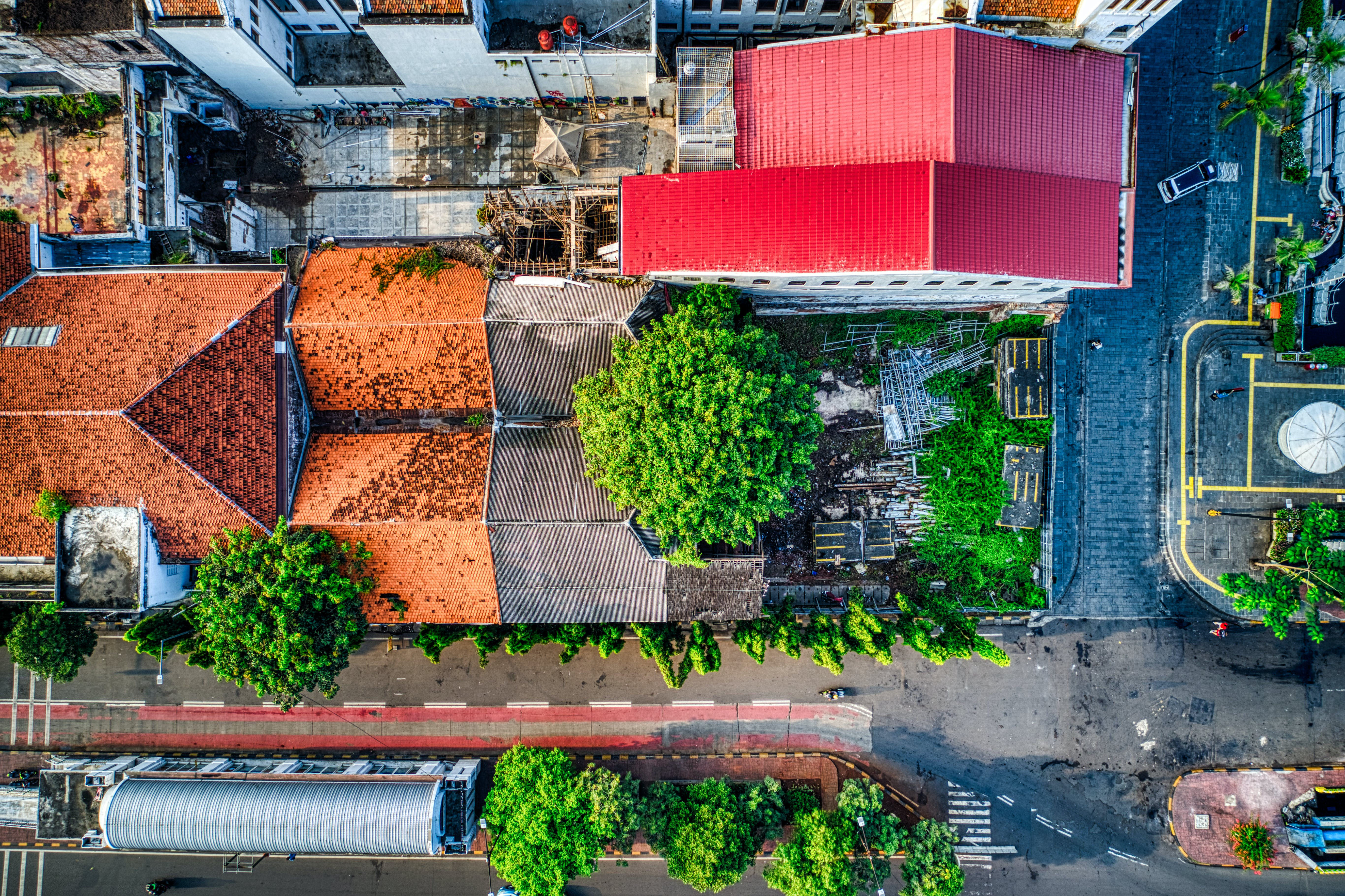 Aerial Photography of Houses and Concrete Road