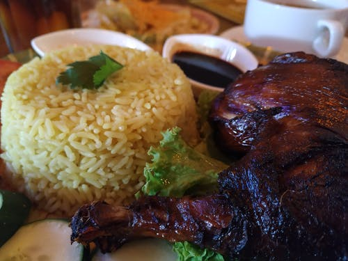 Бесплатное стоковое фото с рис и курица