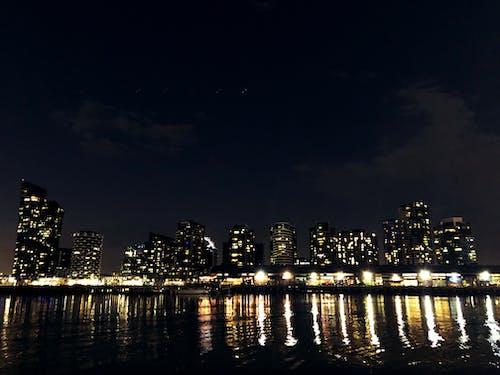 Free stock photo of city, light reflections
