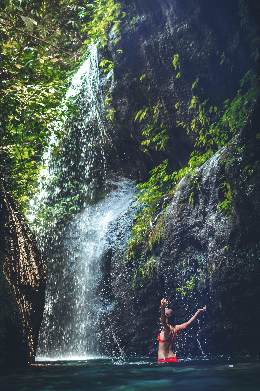 Immagine gratuita di ambiente, avventura, bali, cascata