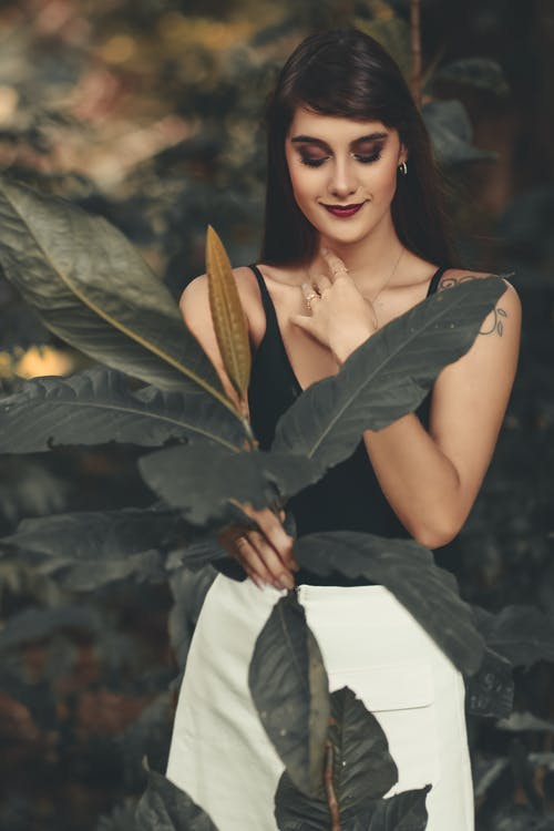 Бесплатное стоковое фото с брюнетка, держать, женщина, завод