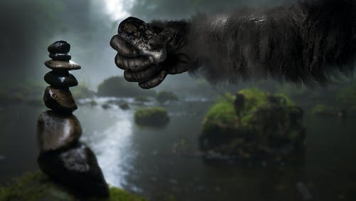 Free stock photo of a-posable thumb, bigfoot, rocks, sasquatch