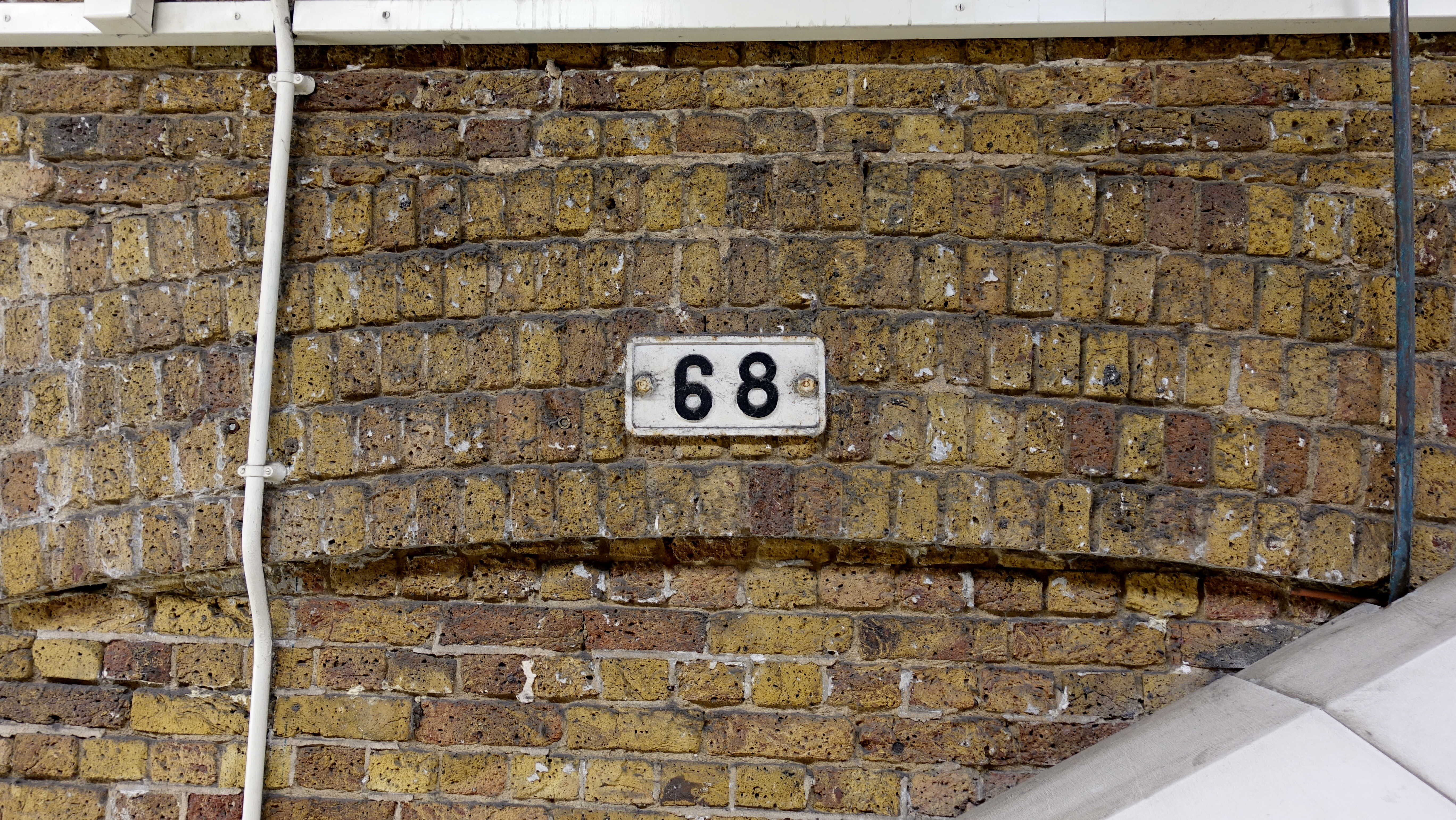 Free stock photo of 1968, 68, brick wall, numbers