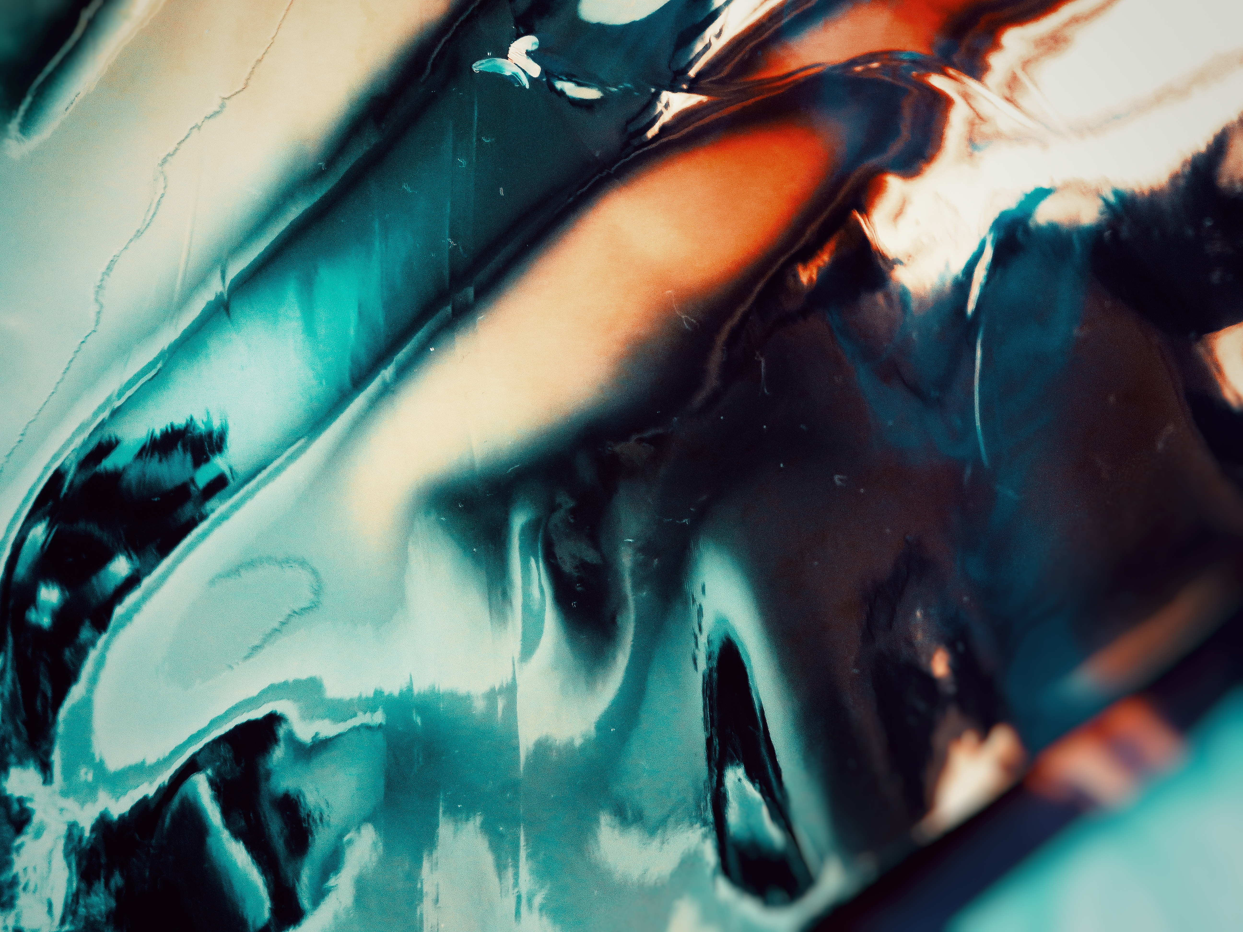 Close-up Photo of Blue Liquid