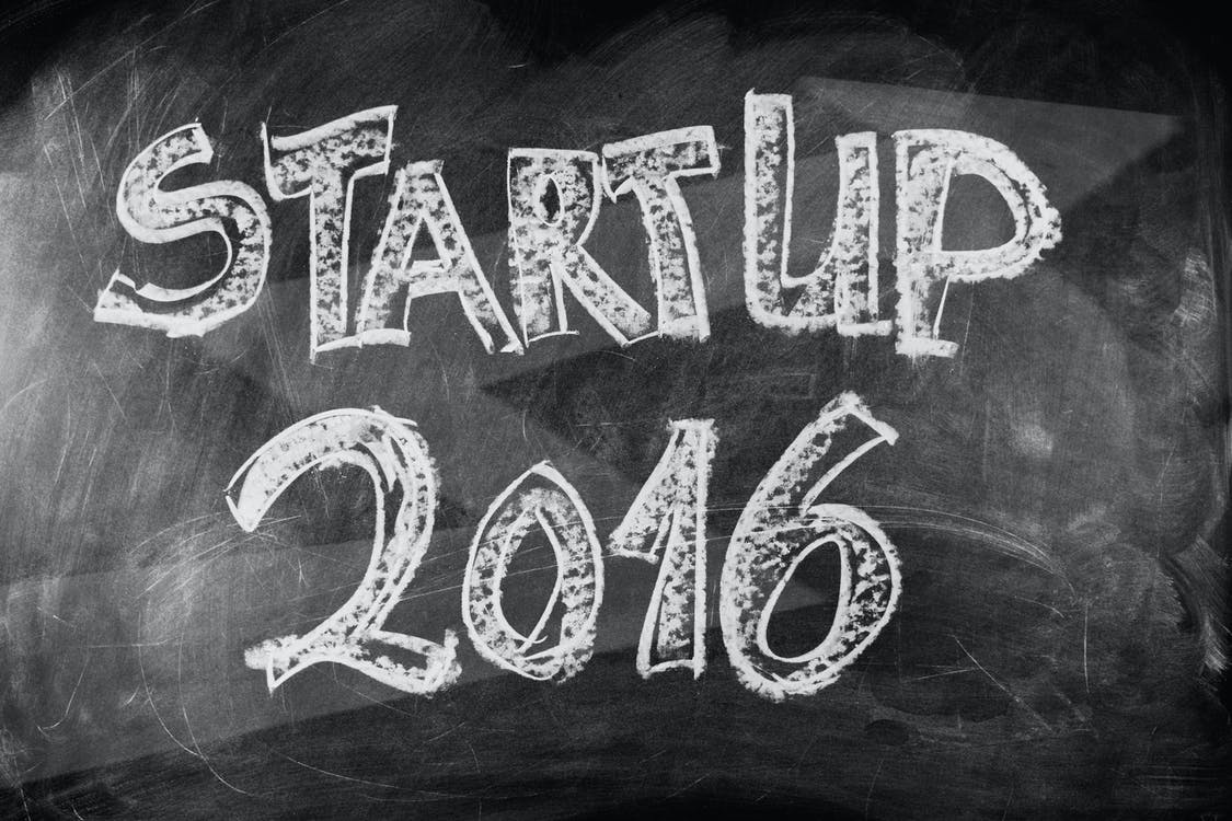 Startup 2016 Text on Blackboard
