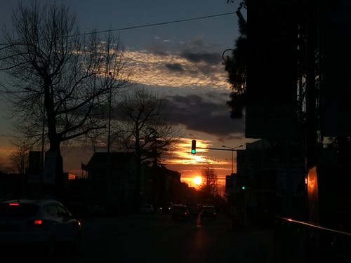 Free stock photo of afternoon, city, dark, evening