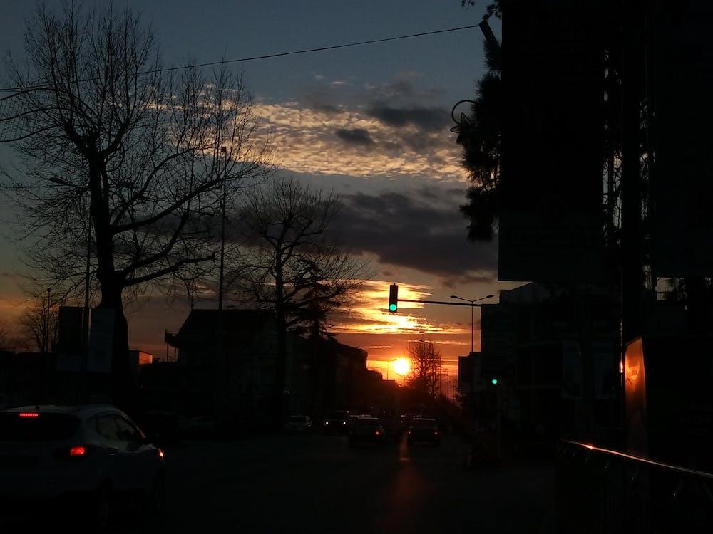 afternoon, city, dark