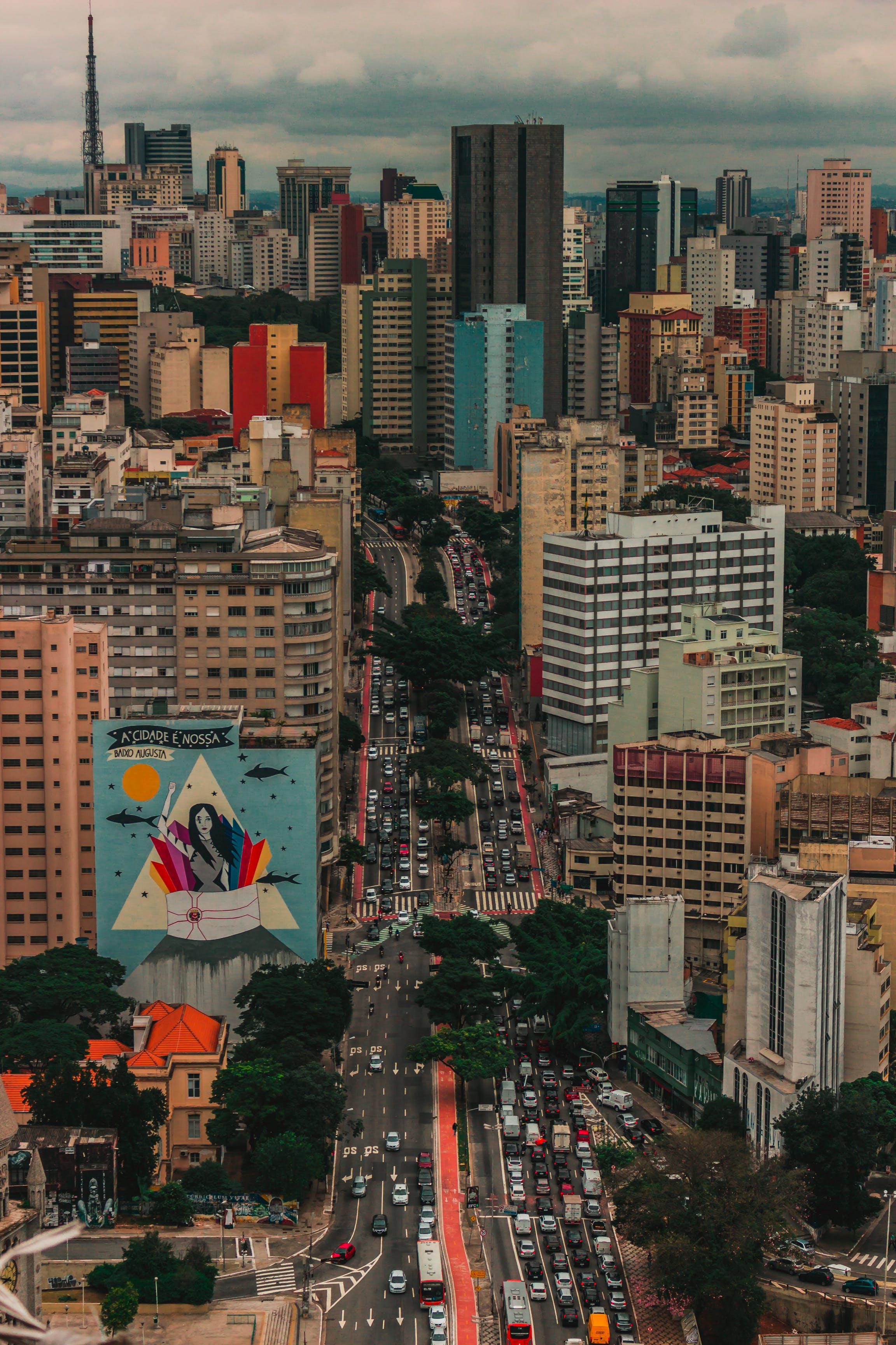 Foto profissional grátis de aerofotografia, área urbana, arquitetura, arranha-céus