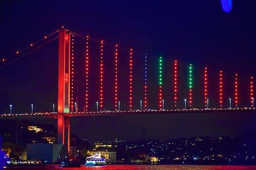 Photos gratuites de pont du bosphore de nuit