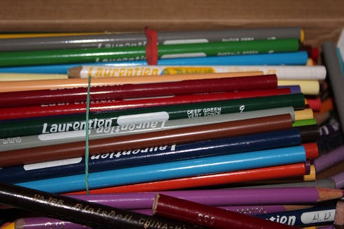 Free stock photo of coloured pencils, pencil crayons