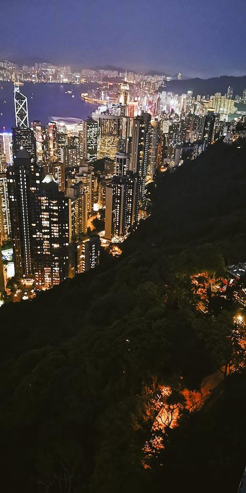 Fotos de stock gratuitas de Hong Kong, vista nocturna