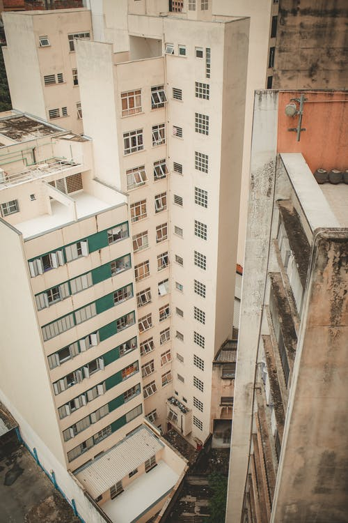 White Tall Buildings