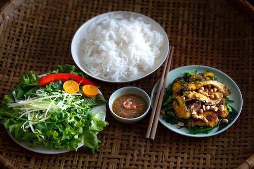 Fotos de stock gratuitas de almuerzo, apetecible, arroz, bol