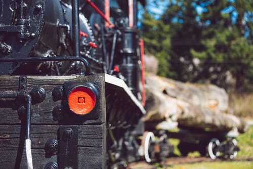 Free stock photo of black, locomotive, logging, old