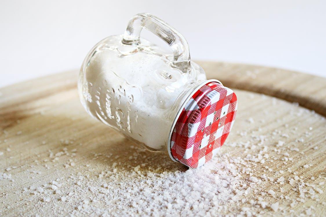 Mason Jar Filled with Salt