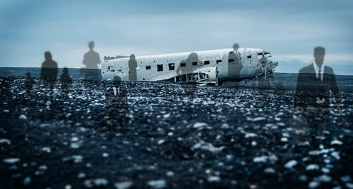 Free stock photo of air crash, ghosts, haunted aircraft, plane crash