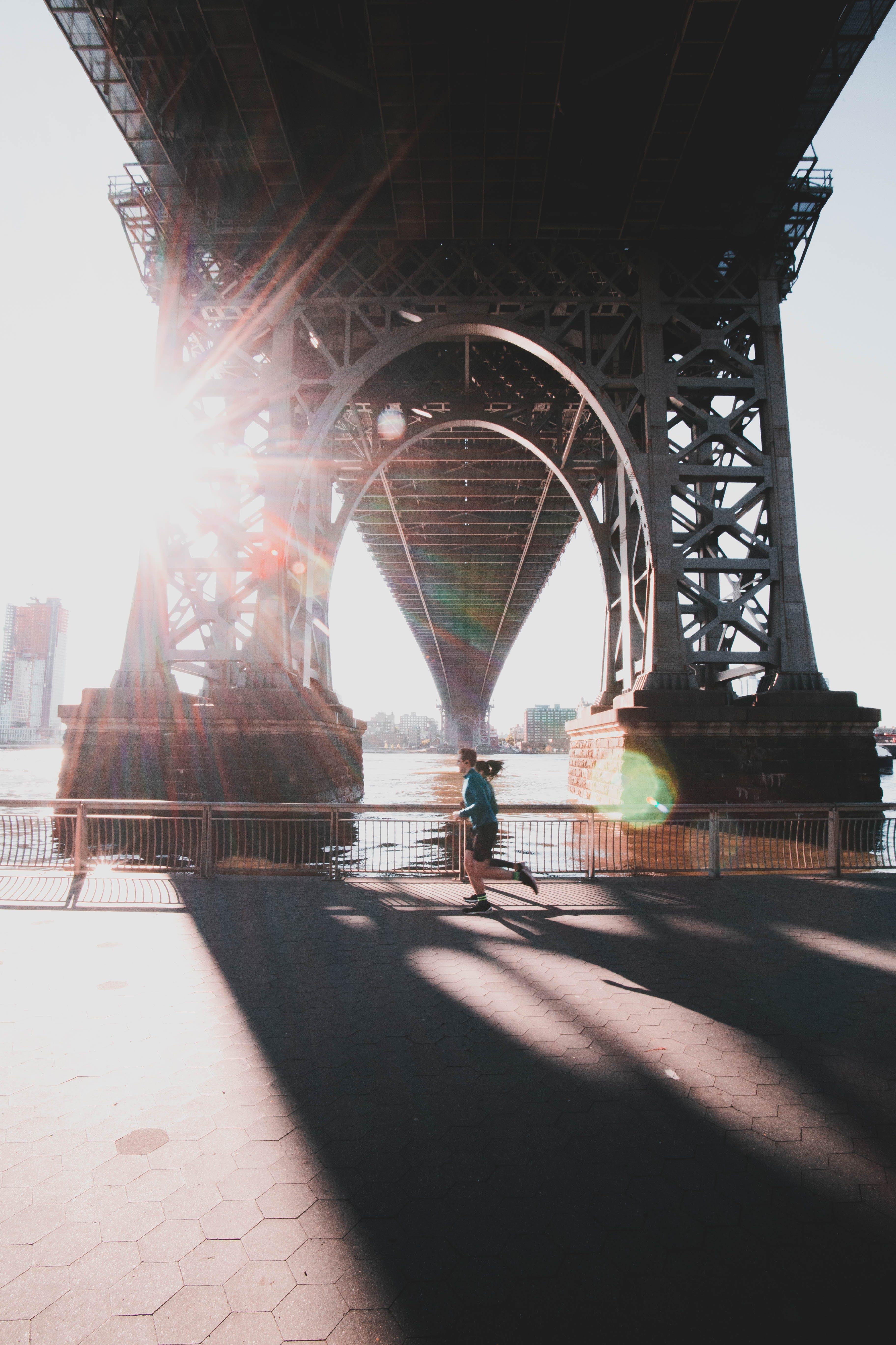 Man Running Under the Bridge