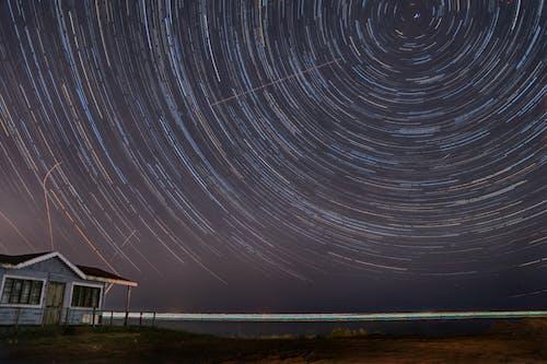 Gratis lagerfoto af nat, stjernede stier fotografering