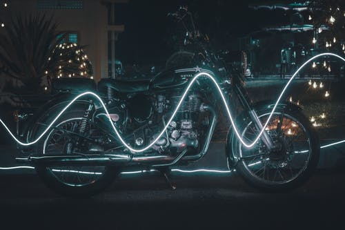 Free stock photo of #bike, #neon, #night, #RE