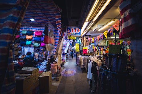Бесплатное стоковое фото с гонконг, ночной рынок, улица