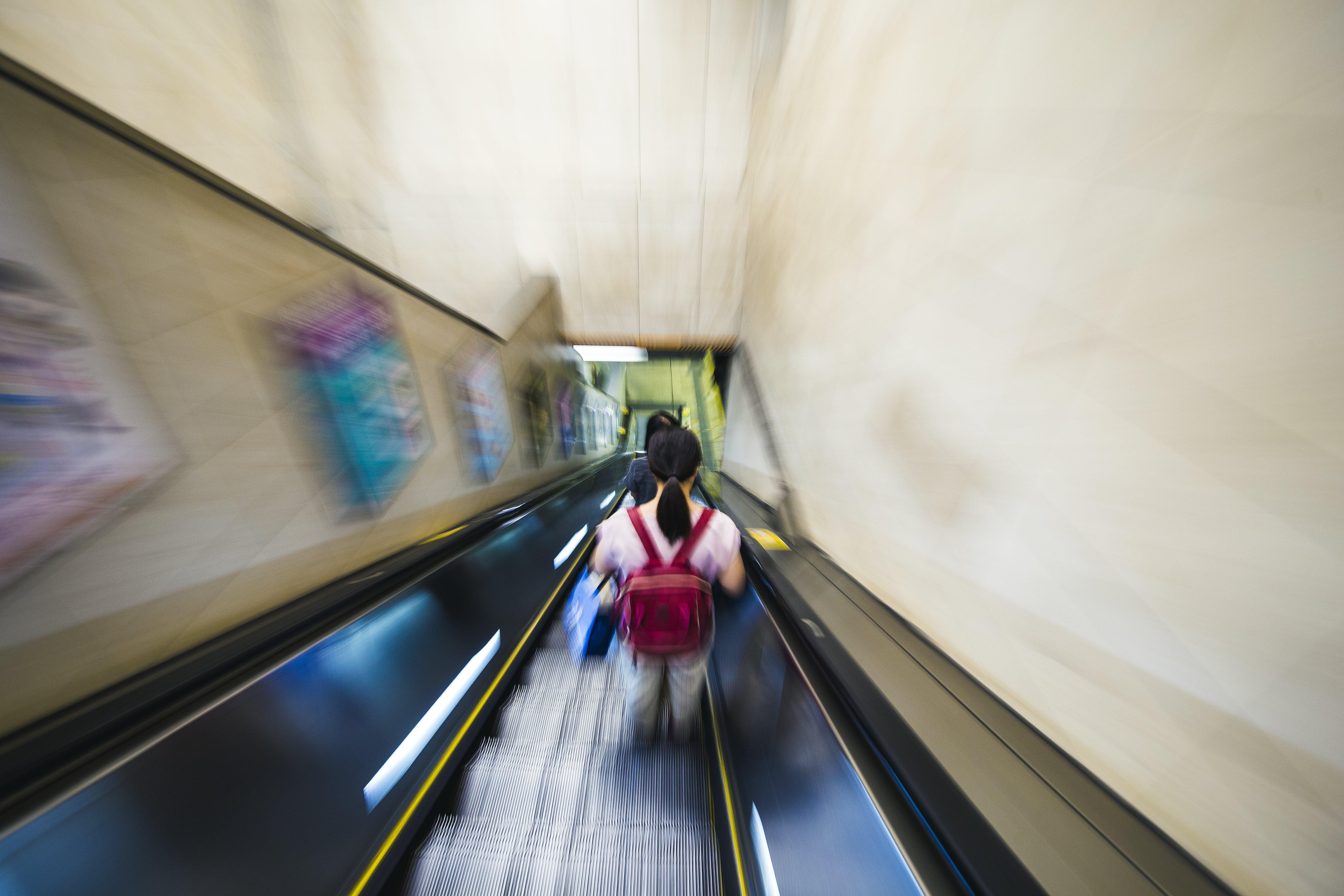 Free stock photo of escalator, hong kong, motion