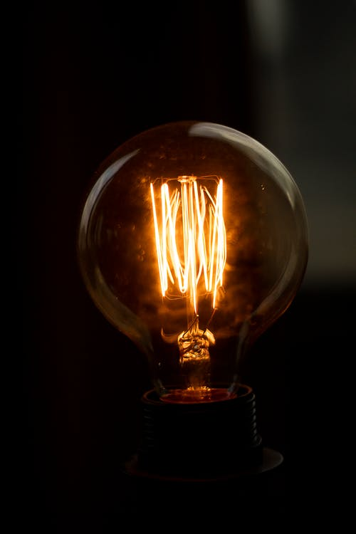 Lighted Clear Light Bulb