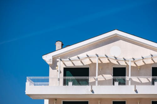 Free stock photo of balcony, beach, beach house, blue