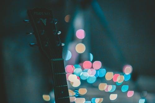 Základová fotografie zdarma na téma bokeh, hudební nástroj, kytara, makro