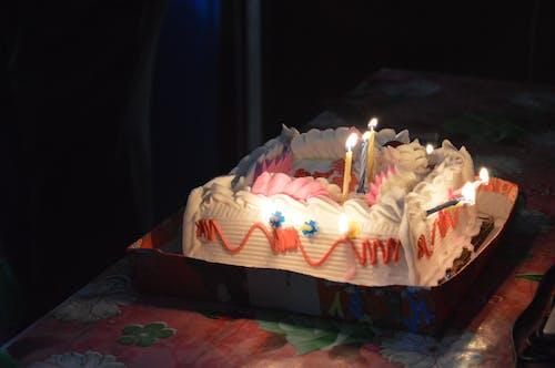 燭火, 生日, 生日蛋糕, 蛋糕 的 免費圖庫相片