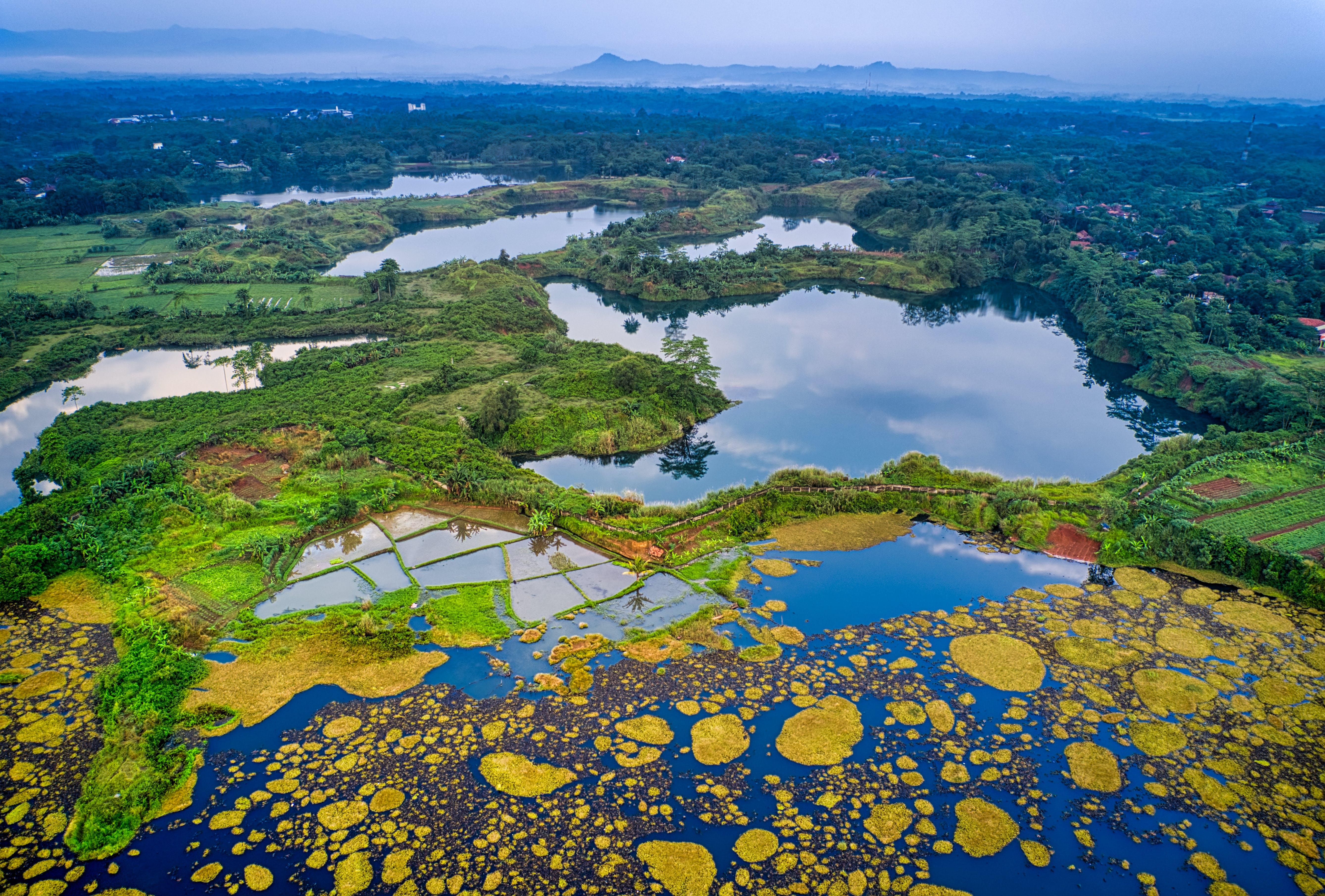 Aerial Photo of Lake