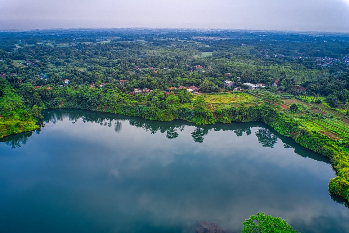 Aerial View Photo of Body of Water