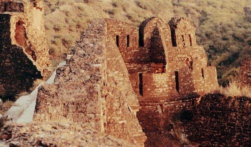 Δωρεάν στοκ φωτογραφιών με qila στο πακιστάν, εξωτερικές ιδέες φωτογραφίας, εξωτερική φωτογραφία, παλιά υφή τοίχων