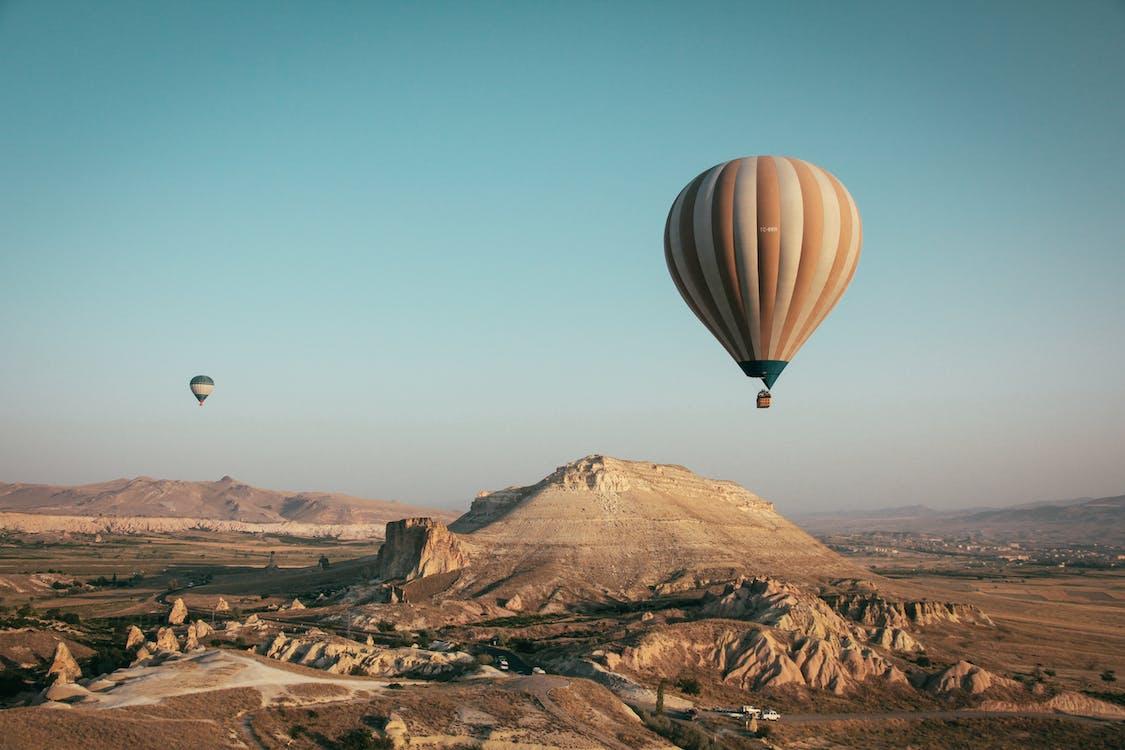 경치, 공기 풍선 축제 카파도키아, 모험