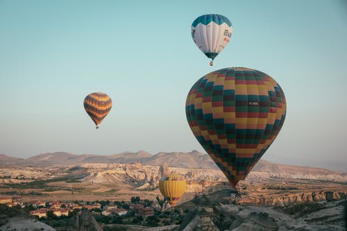 Assorted-color Hot Air Balloons on Skies