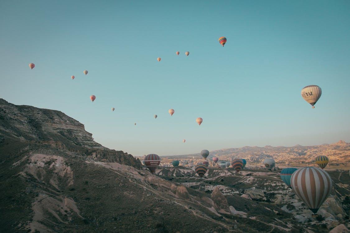 avontuur, ballonnen, bergen