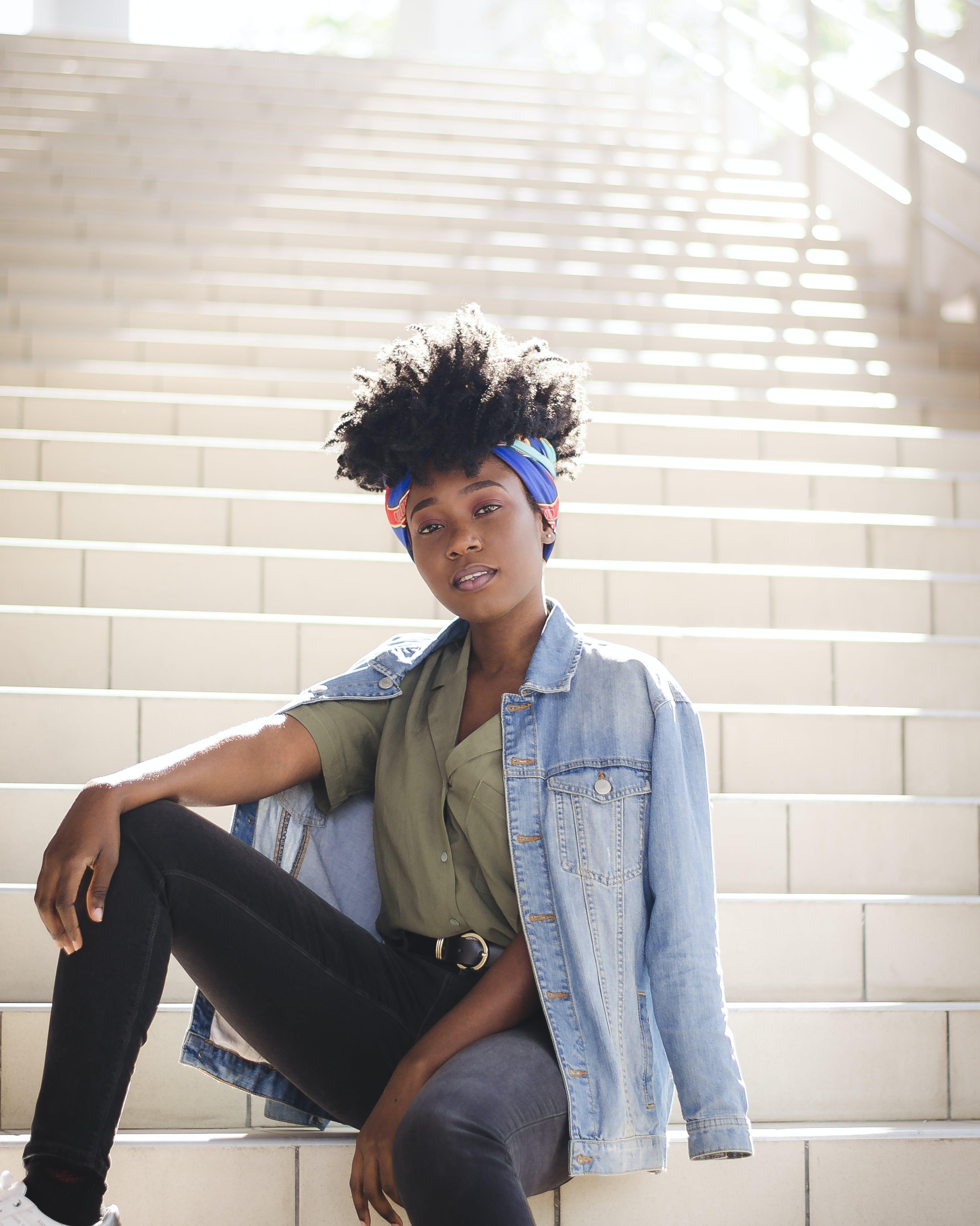 Kostenloses Stock Foto zu afro, afroamerikaner-frau, fashion, frau
