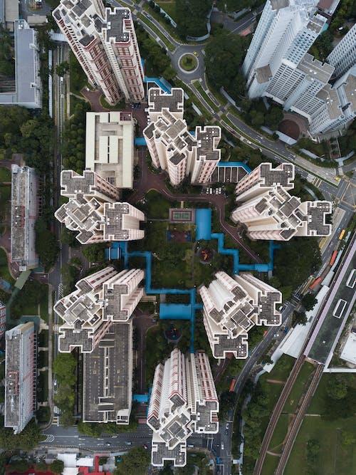 Photos gratuites de architecture, bâtiments, citadin, d'en haut