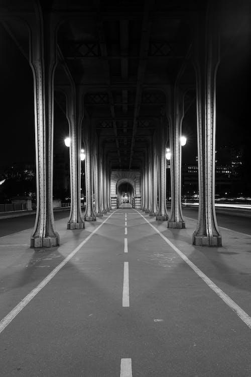 architektura, černobílá, černobílý