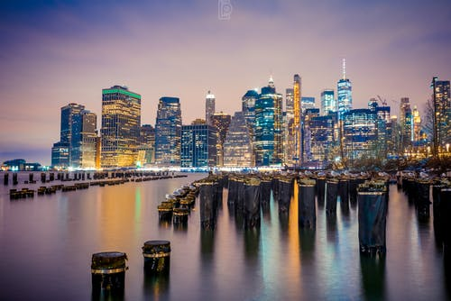 Free stock photo of city lights, new york city, new york city wallpaper, night city