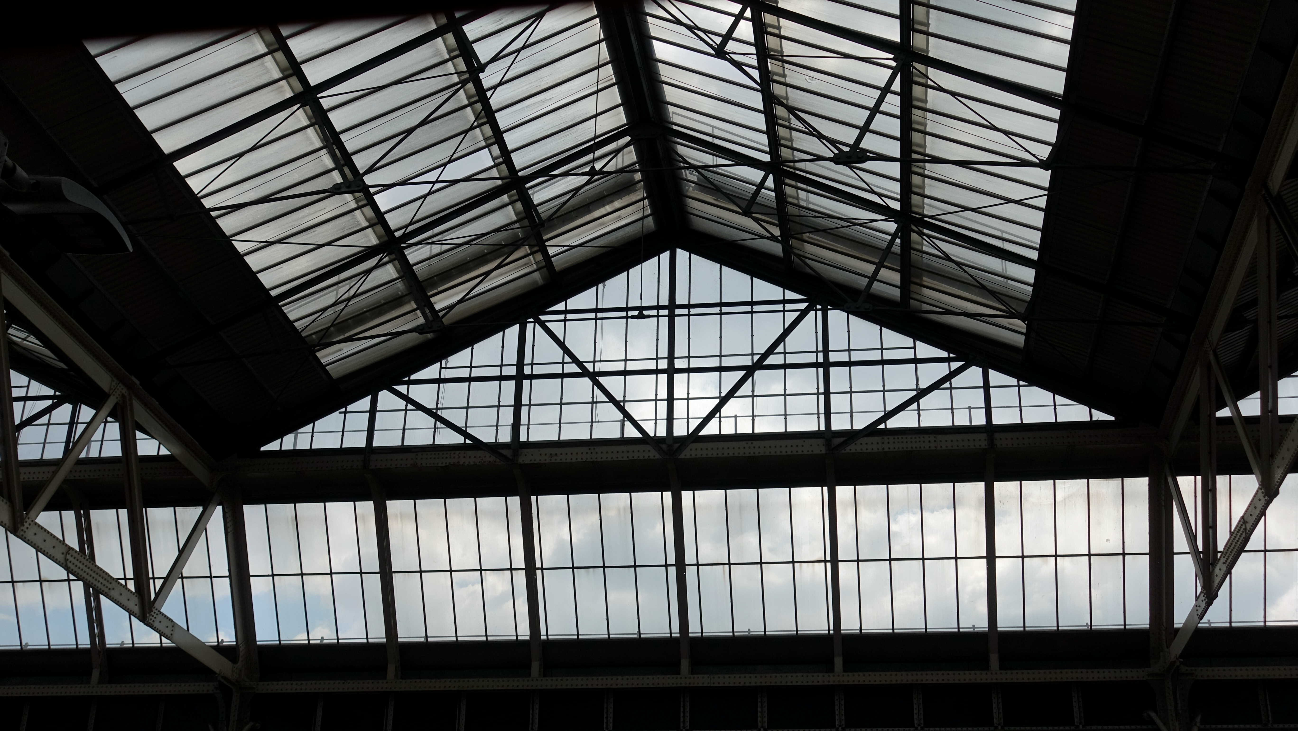 Free stock photo of railway station, roof, skylight