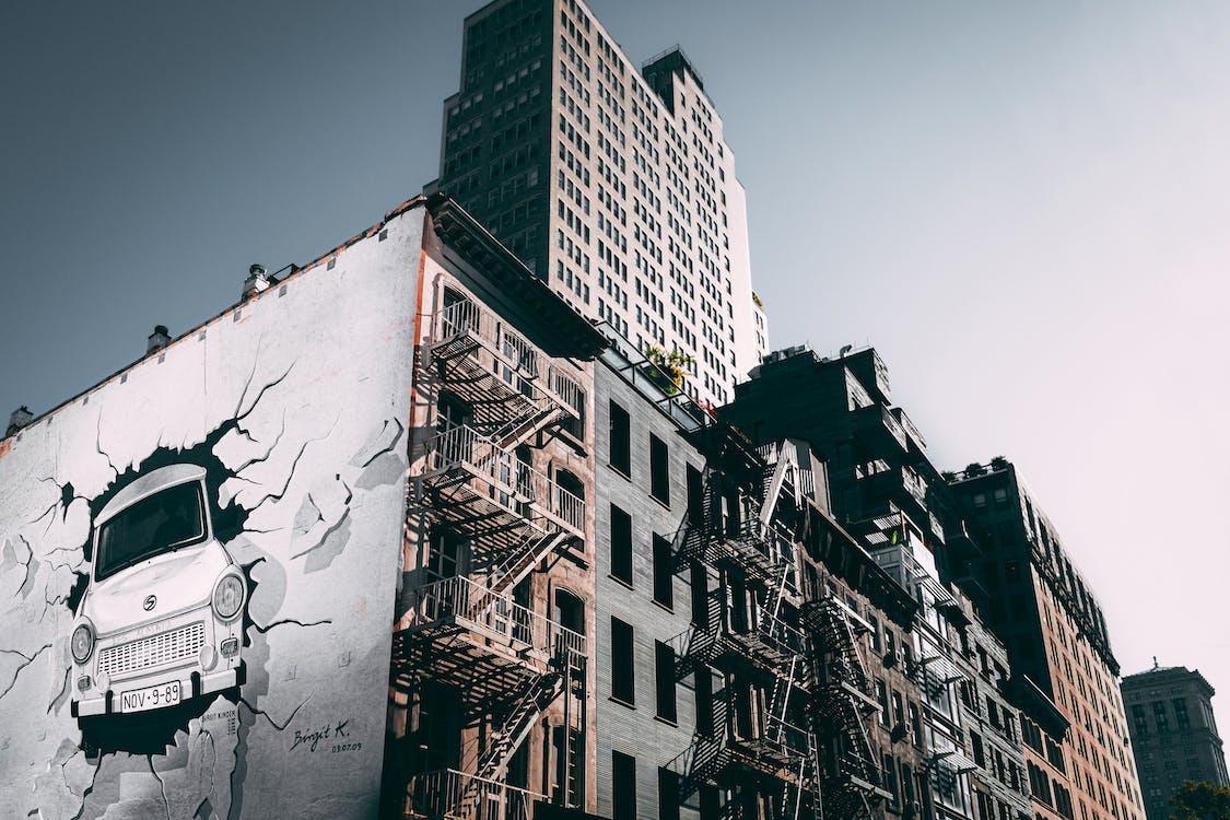 архитектура, здание, манхэттен