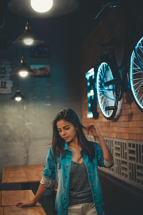 Woman Inside a Restaurant