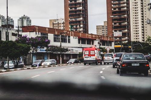 Kostnadsfri bild av asfalt, bil, bilar, byggnad
