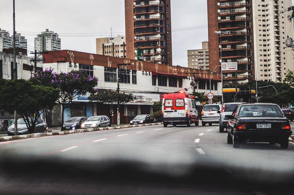 asfalt, bil, bilar