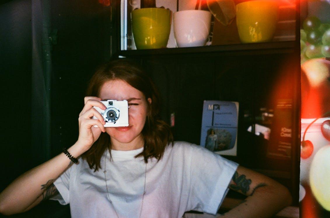 aparat, kobieta, osoba