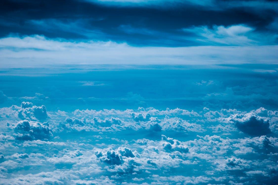天空, 藍色, 雲