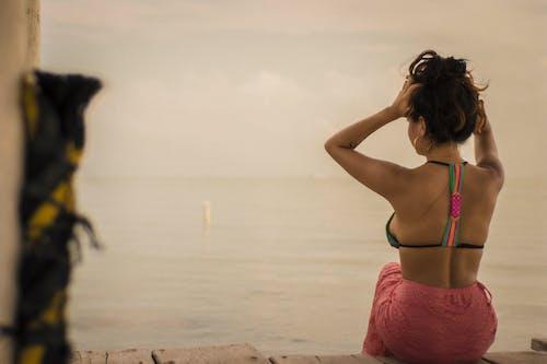 Free stock photo of beach, beautiful, dock, girl