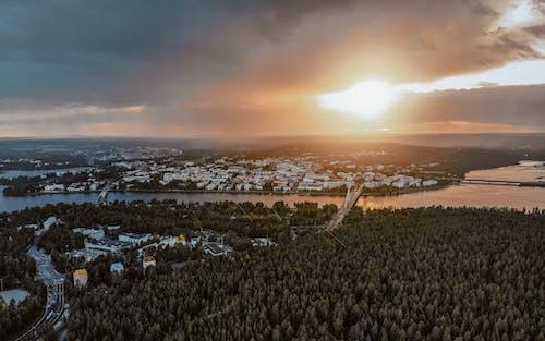Fotobanka sbezplatnými fotkami na tému Fínsko, laponsko, les, letecký