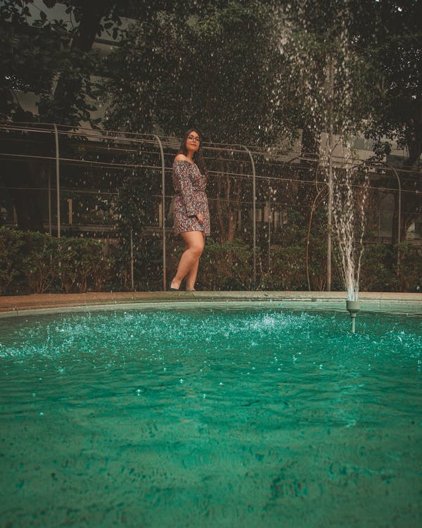 bazén, cestování, denní světlo