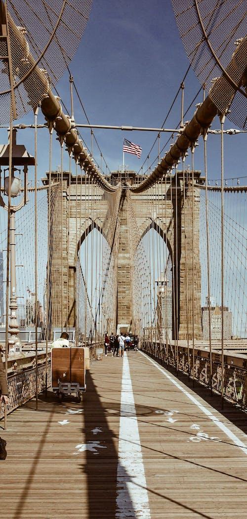 Fotobanka sbezplatnými fotkami na tému architektonický, architektúra, Brooklyn, Brooklyn Bridge